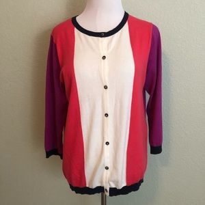 Boden colorblock sweater size 12